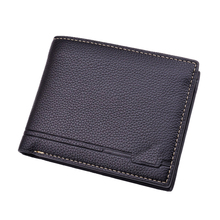SUONAYI PU Leather Wallet Fashion Short Bifold Men Casual Soild Wallets With Coin Pocket Purse Male