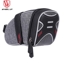 WHEEL UP Rainproof Reflective Cycling Bike Bicycle Saddle Bag With Ligh Hook Tube Rear Tail Seatpost Bag Bike Accessories wheel up bicycle rear bag 3d shell rainproof reflective shockproof cycling bag bike seatpost bag