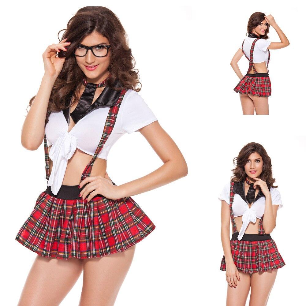 11fa7e1df6c5 Cheap Nuevo Sexy lencería Sexy Babydoll Lencería juego de rol uniformes  estudiante vestido colegiala Cosplay disfraces