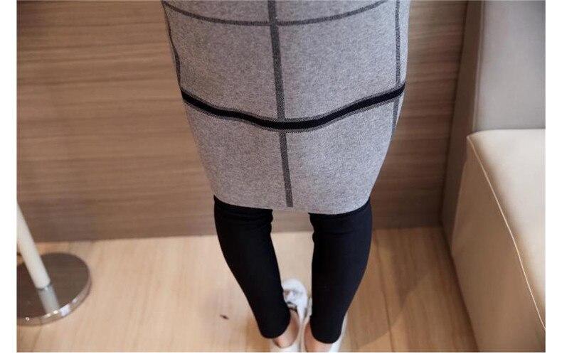 grey Pull Nouveau green Black Automne Style 2018 Femmes D'hiver Lâche Cardigan navy Blue Coréen red De Chandail Sweater Plaid Long Manches Full qT5YU5d