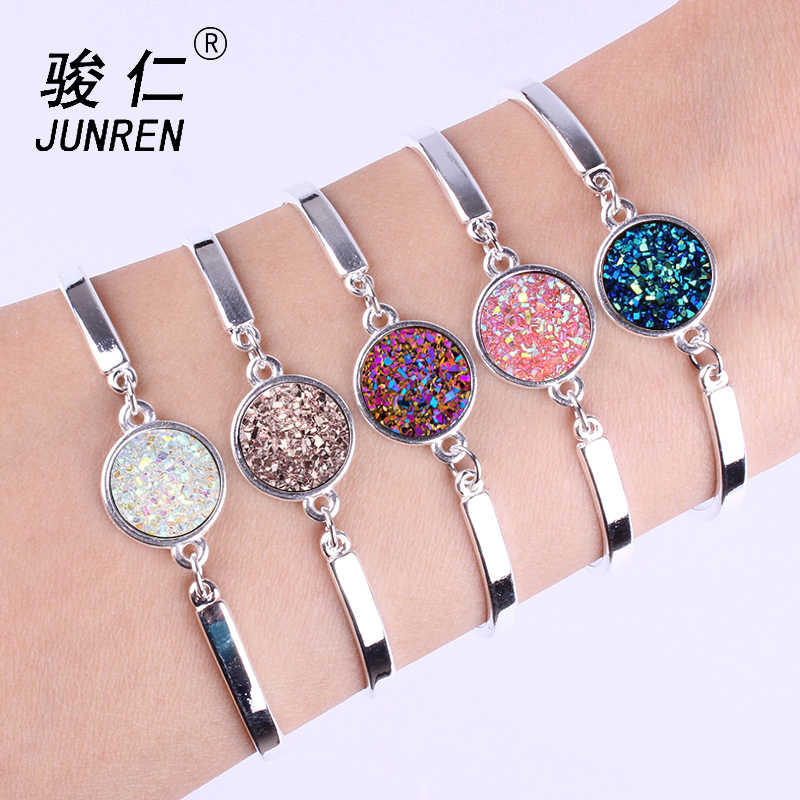 New fashion Queen Jewelry Silver plated Charms Bracelet & Bangles With crystal Bracelet for Women