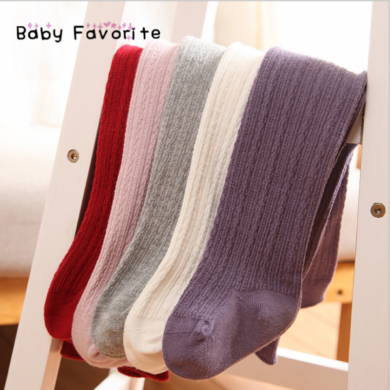 Baby Favorite Newborn Infant Knit Baby High quality Girl Tights Casual Warm Dance Pantyhose Kids Child Hosiery Tights TI-09 rib knit tights