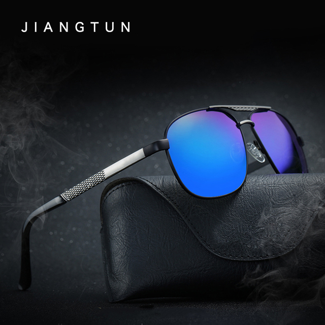 JIANGTUN Fashion Brand Designer Alloy Sunglasses Polarized Mirror Lens Male Oculos De Sol Masculino Sun glasses Eyewear For Men