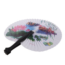 Paper Hand Fan Folding Wedding Party Favor(China)