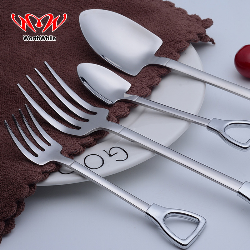 WorthWhile 1piece Mini Multifunction Spoon Fork Outdoor Camping Hiking Travel Picnic BBQ Stainless Steel Steak Pocket Tableware