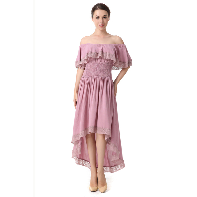 Sweet Women Pleated Dress Casual Dresses Batwing Sleeve Female Pink ...