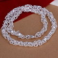 20 inch silver 925 dragon head neckalces 925 sterling silver jewelry fashion twisted men jewelry