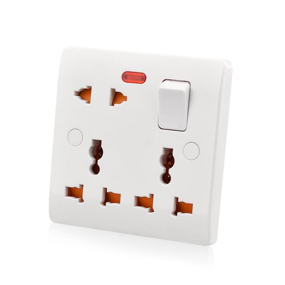 Настенная универсальная розетка переключатель панель электрическая розетка 13A 250В адаптер питания розетка