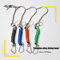 TiTo Titanium scuba diving titanium alloy diving hook Reef Drift Hook Line and Hook for Current Dive Underwater Outdoor camping