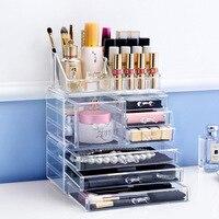 Fashion cosmetics drawer Big size transparent box Fashion Acrylic Cotton Swab Organizer Box Cosmetic Q tip Holder L47