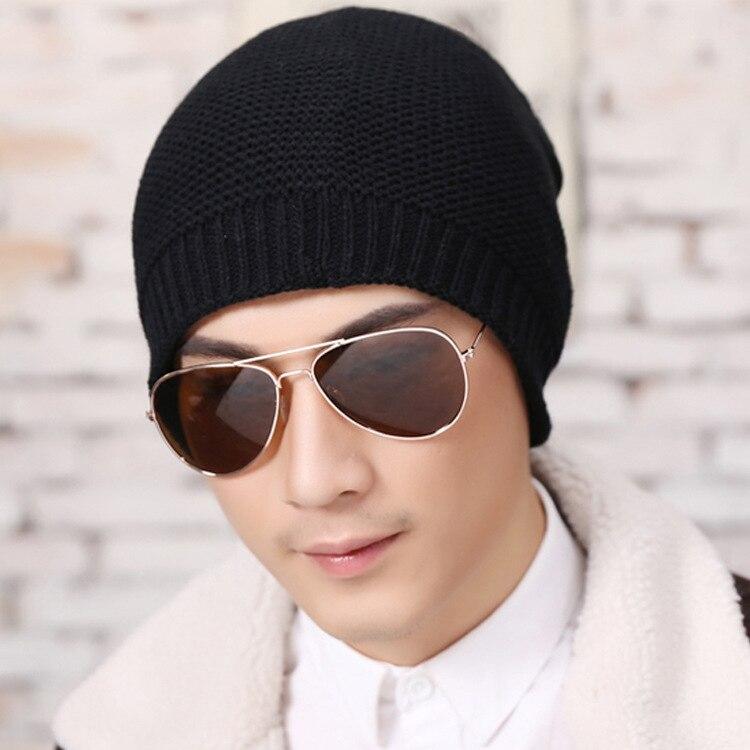 2016 Mens Designer Hats Bonnet Winter Beanie Knitted Wool Warm Winter Hat Plus Velvet Cap Thicker Mask Fringe Beanies For Men