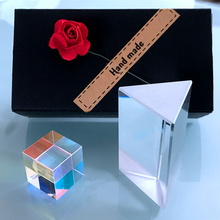 AIBOULLY SY2 Tri Prism Stereo Square Glass Rainbow Experiment Physical Optical Gift