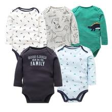 5 قطعة/الوحدة القطن الطفل داخلية للجنسين الرضع بذلة موضة طفل الفتيان الفتيات ملابس طويلة الأكمام الوليد ملابس الطفل مجموعة