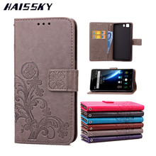 "HAISSKY Doogee X5 Case X5 Pro Cases Leather Flip Cover Luxury Wallet Card Slots 5.0"" For Doogee X5 / X5pro Phone Stand Fundas"