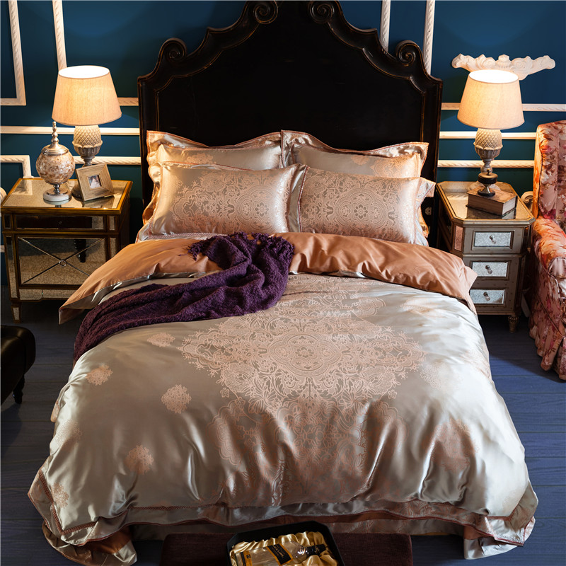ᗑ】Papa & Mima estilo europeo de lujo 4 unids reina/King Size Ropa ...