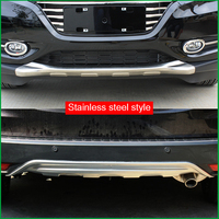 For Honda HR V HRV Vezel 2014 2015 2016 2017 Front Plus Rear Body Bumper protection Fender Guard Bumper Cover Trim Car styling