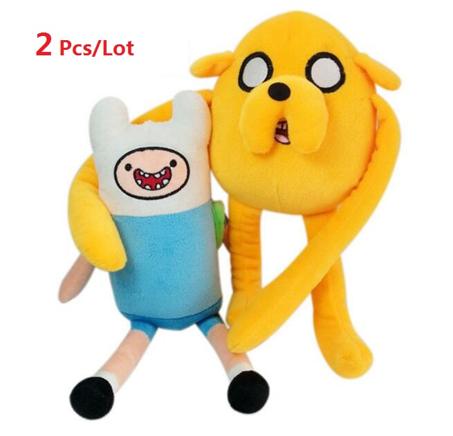 2pcs lot Adventure time 2style Jake Finn Beemo BMO Penguin Gunter Ice king Plush Dolls Toys