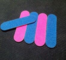 100 pcs colourful mini 5cm Professional Nails Files Art Tools Sand emery board 240 240 Grit