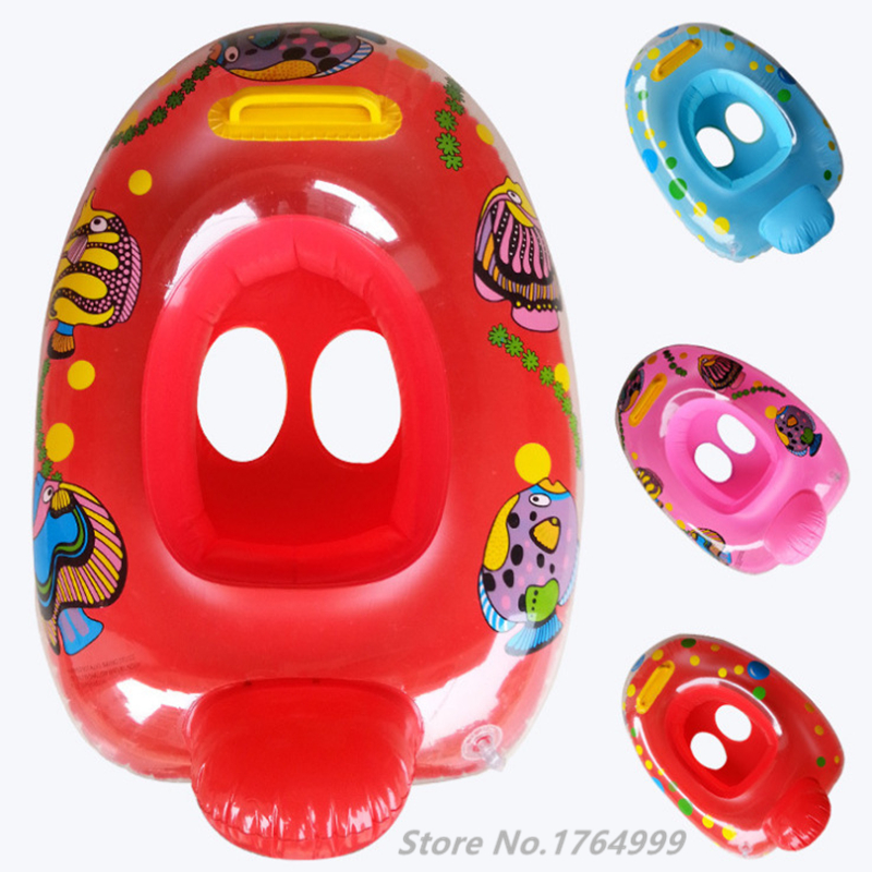 1pc PVC Kids Swimming Rings Baby Inflatable Swim Ring Floating Aid Lifebuoy Cute Pool Float Child Police Cars Toys Seat Boat