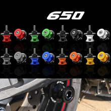 For Kawasaki Z650 z650 Z 650 2017 8mm Motorcycle Swingarm Spools Slider CNC Aluminum Rear Cover Stands