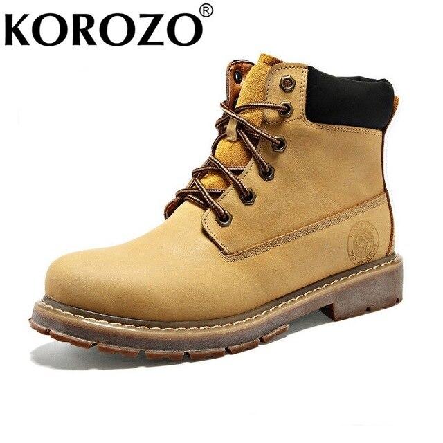 cef30a94cfff5 2016 Moda Para Hombre Chukka Boots Timber Tierra Botines de Invierno de  Cuero Botas de nieve