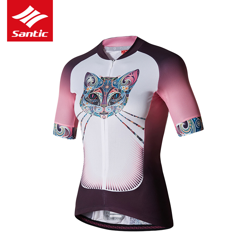 Santic Cycling Jersey 2017 Summer Women MTB Road Bike Jersey Quick-dry Cozy Bicycle Jersey Cycling Clothing Ropa Ciclismo