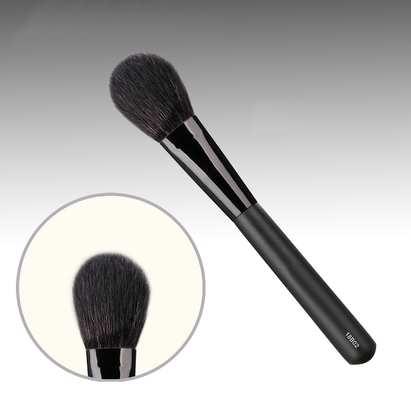 18B02 Professional Makeup Brush Soft Squirrel Goat Hair Blush Brush Black Handle Make up Brush Cosmetic Tool Blusher Brush artdeco blusher 18 цвет 18 beige rose blush