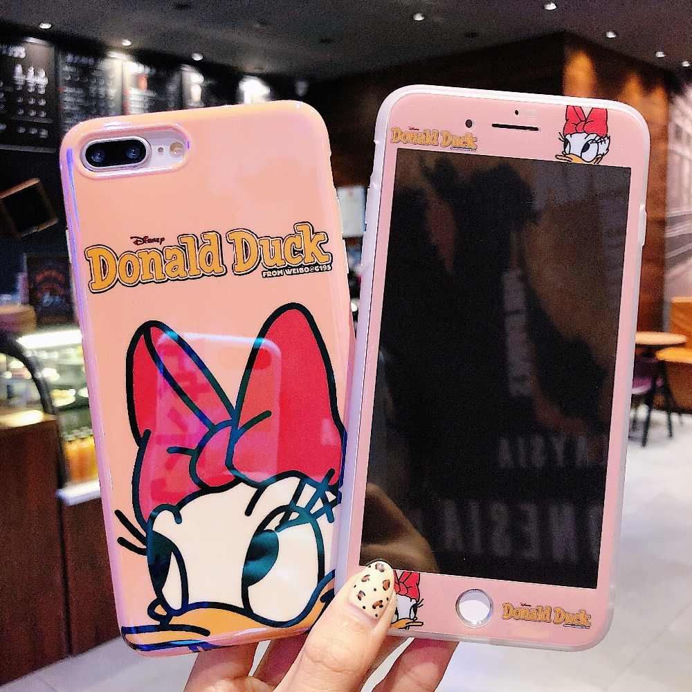 info for be76a dea58 Mickey Mous Women Luxury Phone case + Glass Screen Protector for iPhone X  XR XS Max Soft Cover for iPhone 6 6s 7 8 Plus Coque