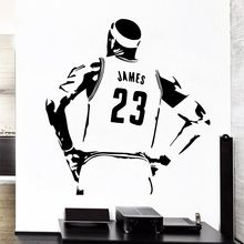 Basketball wall stickers, basketball superstar LeBron James, vinyl detachable decals, home boy room decoration LQ25