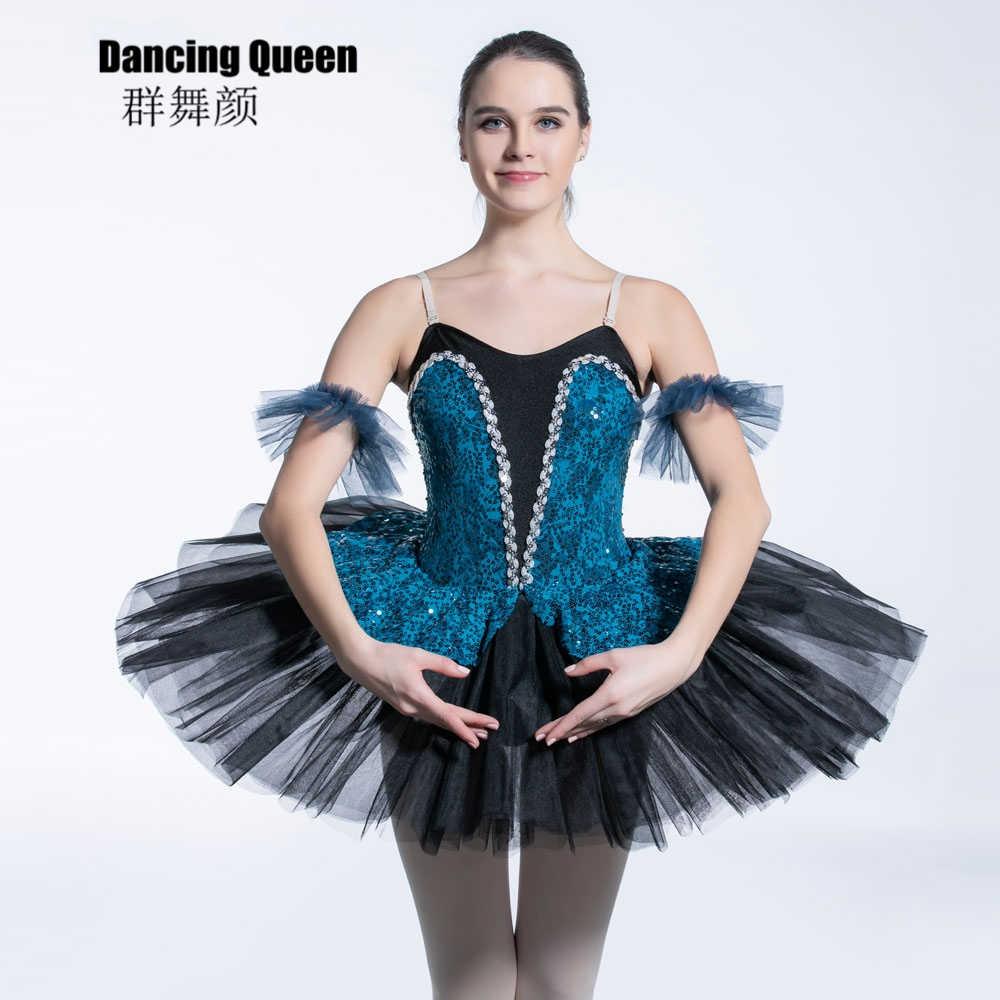 Yetişkin ve Çocuk İspanyol Tarzı Mavi Bale tutu Comtemprorary bale elbise balerin Kadın kızlar Bale Dans kostümleri 19502