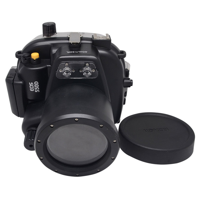 Mcoplus 40M 130ft Waterproof Underwater Camera Housing Diving Case for Canon 550D Rebel T2i Digital SLR Camera 40m 130ft waterproof underwater camera diving housing case aluminum handle for sony a7 a7r a7s 28 70mm lens camera