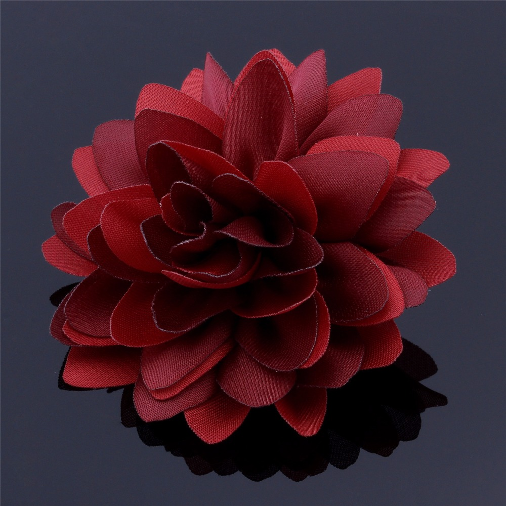 Mixed 5 Color Red Blue Black Pink Black Lapel Wire Flowers Brooch ...