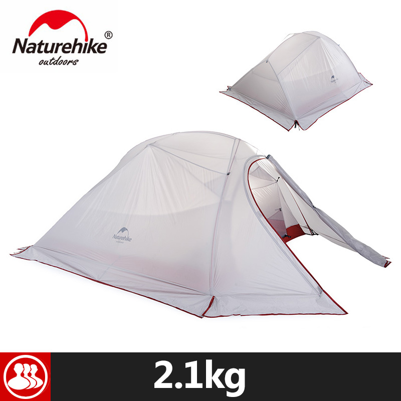 Naturehike 3 Person Camping Tent With Mat Ultralight 4Person 20D Silicone Fabric Double Layers Aluminum Rod Outdoor Tent hillman 3 4 person double layer ultralight silicon tent 2d silicone coated nylon waterproof aluminum rod outdoor camping tent