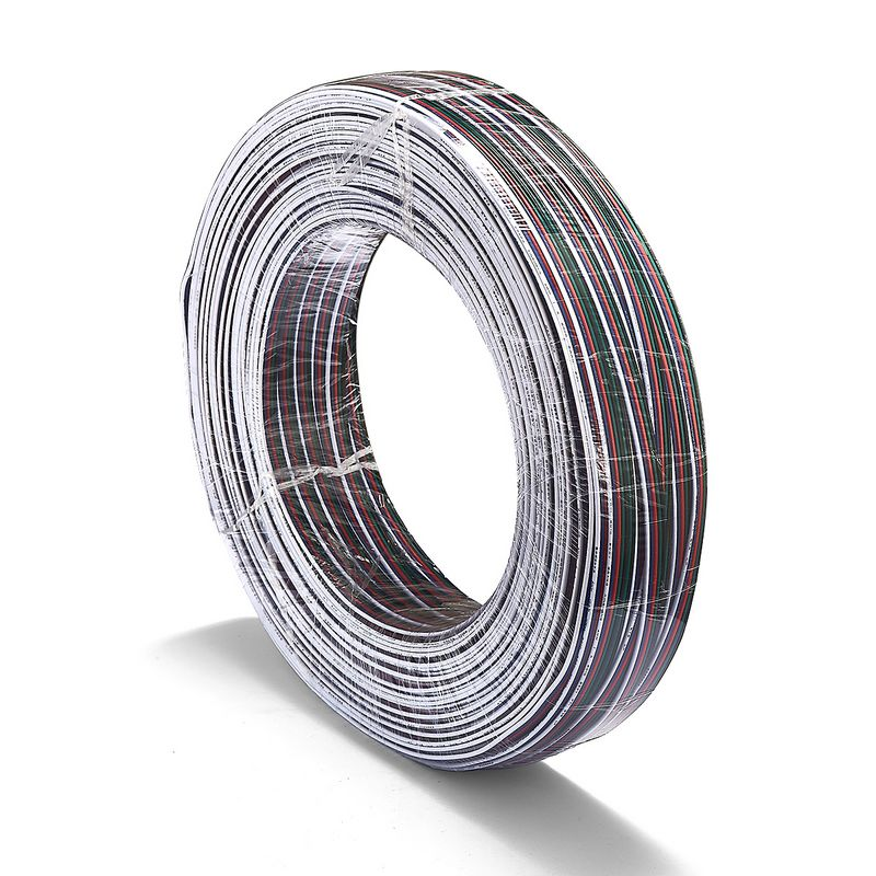 3roll 5 Pin RGBW Extension Cable 100m 18AWG 20AWG 22AWG JST Connector Electrical Wires For 5050