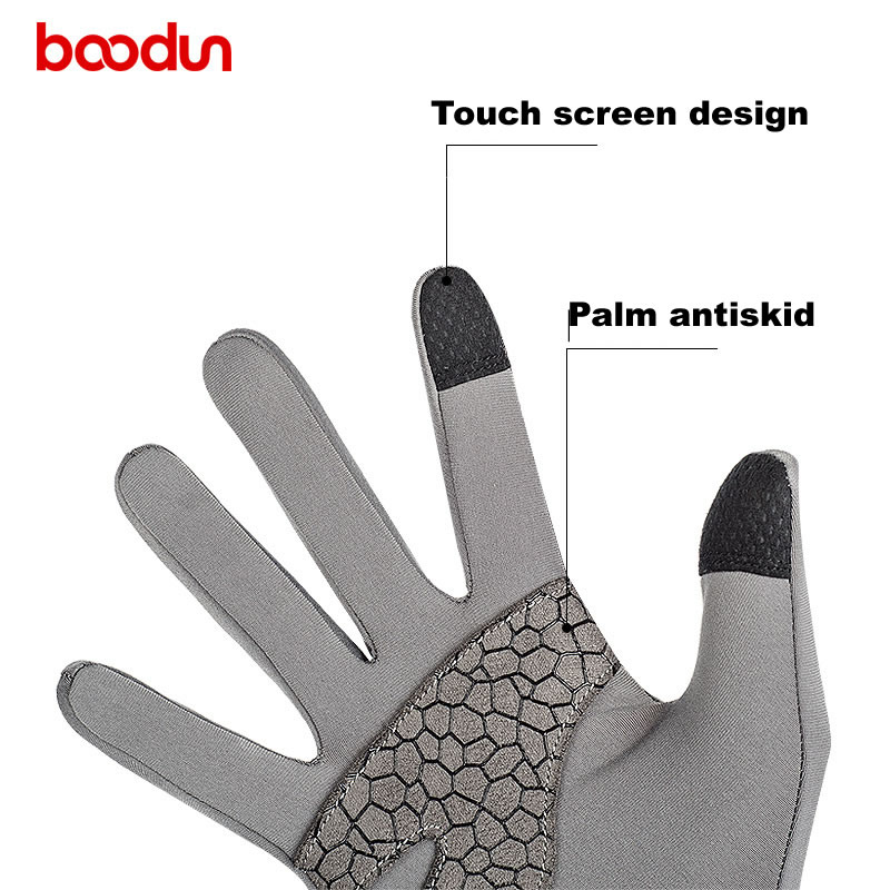 Boodun winter Cycling Gloves Long Finger Touch Screen Motocycle MTB Road Bike Riding winter sports outdoor gloves
