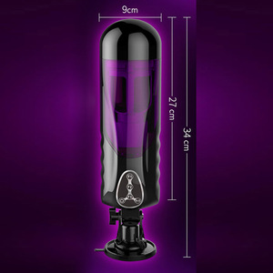 Image 3 - Electric Male Masturbator Automatic Telescopic Rotation Cup Voice Sex Machine Heating Vibrator Hands Free Sex Toys for Men