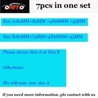 High Practicality PVC 7pcs Lot Emblem Kit 82mm 74mm 4x68mm 45mm Steering Wheel Sticker Caps Choice