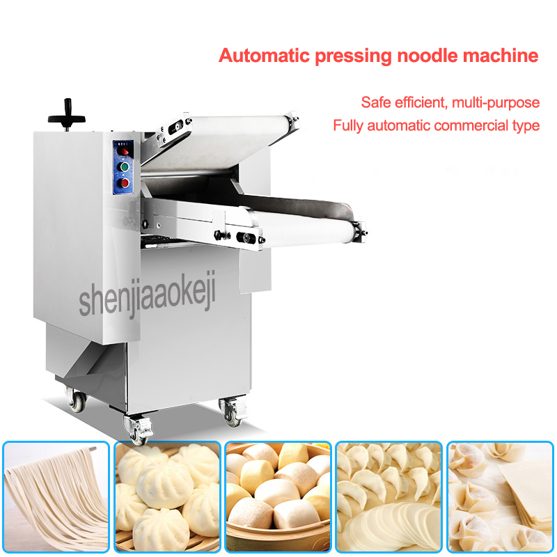 Automatic Pressing Noodles Machine Commercial Kneading Machine Electric Dough Machine Stainless Steel Press Dough Machines 1pc