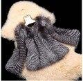 GTC186 new style women fashion luxury full sleeves O NECK genuine silve fox fur jacket coat  real fur overcoat garment outwear