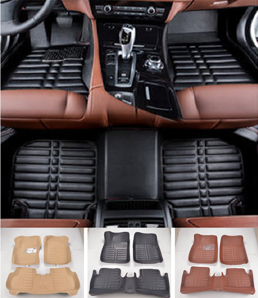 Custom Fit Car Floor Mats Front & Rear Waterproof For Honda Fit 2014-2017 3D All Weather Car-styling Carpet rugs Floor Liners