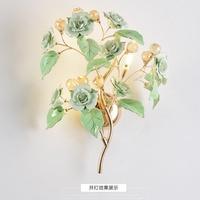 Современный настенный светильник золото Творческий бра современный настенный светильник Гостиная золото настенные бра Спальня цветок све