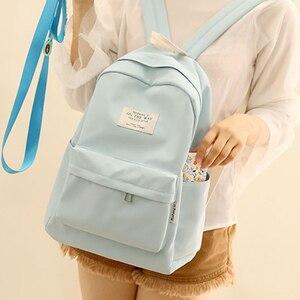 Image 2 - NuFangU Simple Design Oxford Korea Style Women Backpack Fashion Girls Leisure Bag School Student Book Teenager Useful Travel