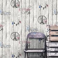 vintage style wood grain stripe wall paper