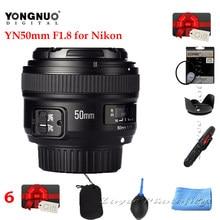 Yongnuo lente yn50mm yn 50mm f1.8 af, abertura com foco automático, grande abertura para câmera nikon dslr, nikon, d800, d300 lente d700,