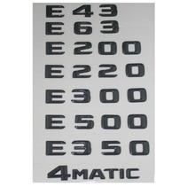 Купить с кэшбэком Glossy Gloss Black Rear Trunk Letters Number Badge Emblem Emblems for Mercedes Benz E43 E63 E55 AMG E320 E350 E300 E200 4MATIC