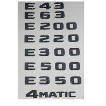 Gloss Preto Tronco Letras Emblema Emblema para Mercedes Benz E43 E63 E55 AMG E320 E350 E300 E200 E400 E500 E250 E550 E420 4MATIC