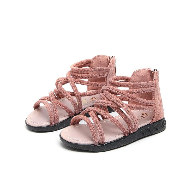 2018 Sommer Baby Mädchen Sandalen Römischen Stil Kinder Sandalen Weichen Boden Mode Student Schuhe Rosa Weiß Schwarz Infant Schuhe