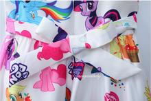 Baby Girls Dresses Little Pony Cartoon For 3-8Y