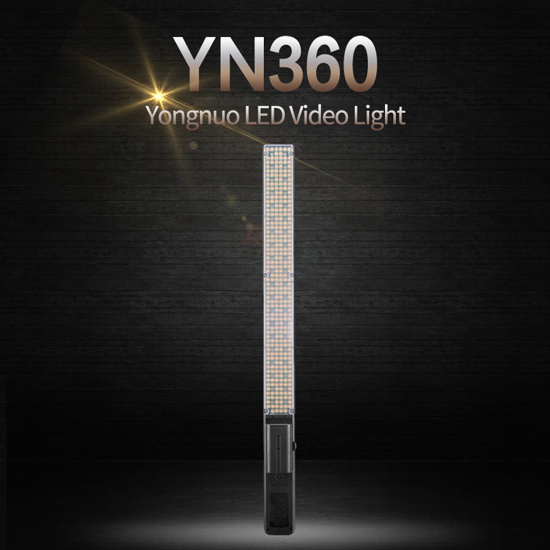 Yongnuo YN360 Wireless Pro Hand-held LED Video Light two-color temperature 3200K 5500K RGB Colorful Stick photography LED lights