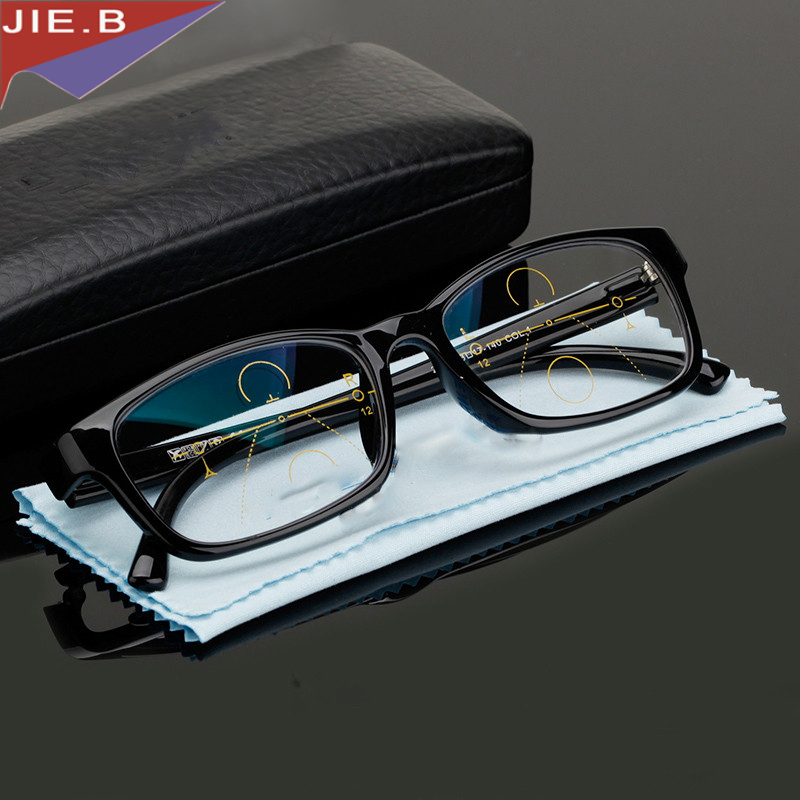 Multi-focal Progressive Okulary do czytania Mężczyźni Kobiety Dioptrii Okulary Presbyopic Reading Clear Intelligence Multifocal Glasses